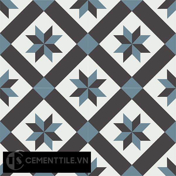 Gạch bông CTS 11.6(4-13-47) - 4 viên - Encaustic cement tile CTS 11.6(4-13-47)-4 tiles