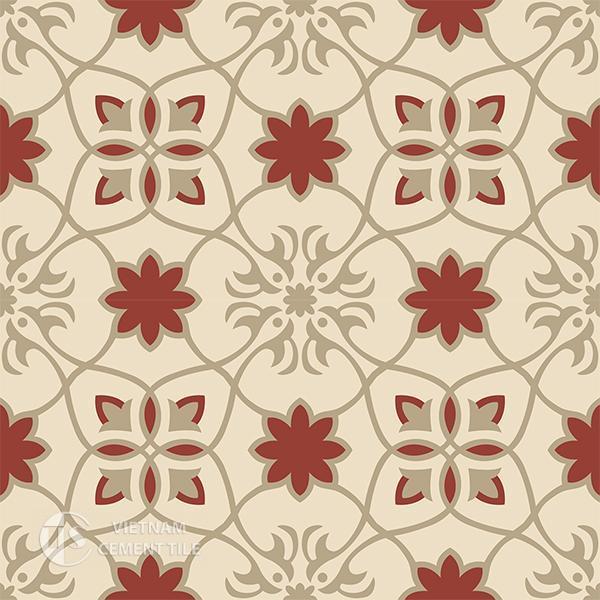 Gạch bông CTS 138.2(55-59-62) - 4 viên - Encaustic cement tile CTS 138.2(55-59-62)-4 tiles