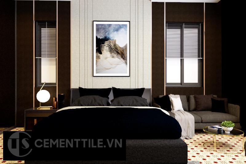 Gạch bông cts 138.2 lát nền phòng ngủ