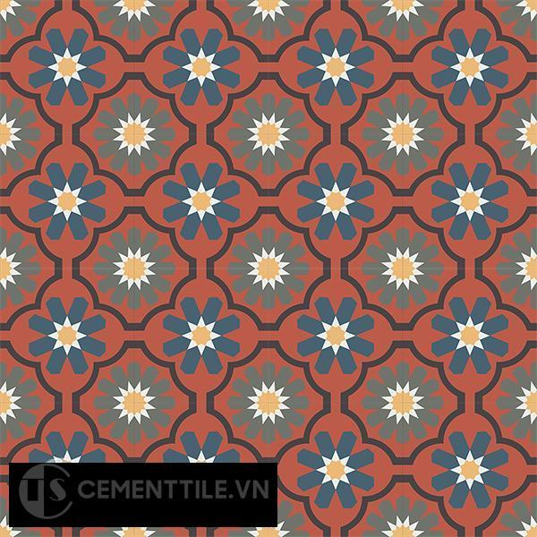 Gạch bông CTS 16.9(3-4-5-6-13) - 16 viên - Encaustic cement tile CTS 16.9(3-4-5-6-13)-16 tiles