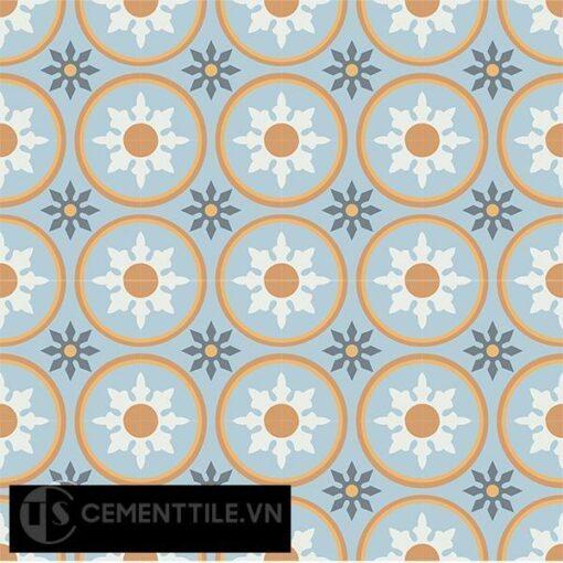 Gạch bông CTS 176.2(2-4-6-33-34) - 16 viên - Encaustic cement tile CTS 176.2(2-4-6-33-34)-16 tiles