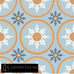 Gạch bông CTS 176.2(2-4-6-33-34) - 4 viên - Encaustic cement tile CTS 176.2(2-4-6-33-34)-4tiles