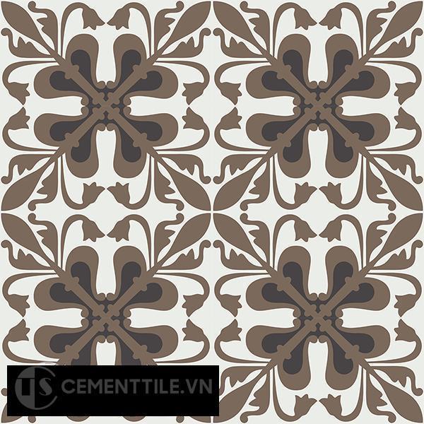 Gạch bông CTS 188.1(4-13-28) - 16 viên - Encaustic cement tile CTS 188.1(4-13-28)-16 tiles