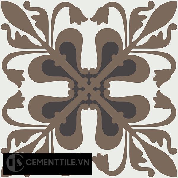 Gạch bông CTS 188.1(4-13-28) - 4 viên - Encaustic cement tile CTS 188.1(4-13-28)-4 tiles