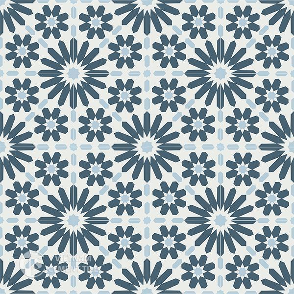 Gạch bông CTS 19.11(1-2-4) - 16 viên - Encaustic cement tile CTS 19.11(1-2-4)-16 tiles