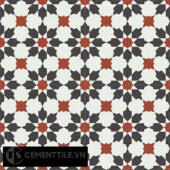 Gạch bông CTS 3.19(4-13-30) - 4 viên - Encaustic cement tile CTS 3.19(4-13-30)-4 tiles
