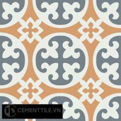 Gạch bông CTS 4.9(4-33-34) - 4 viên - Encaustic cement tile CTS 4.9(4-33-34)-4 tiles