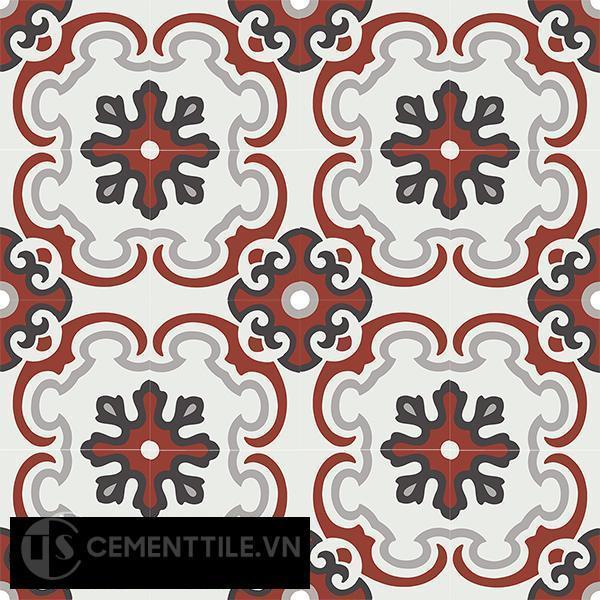 Gạch bông CTS 5.9(4-9-13-62) - 16 viên - Encaustic cement tile CTS 5.9(4-9-13-62)-16 tiles