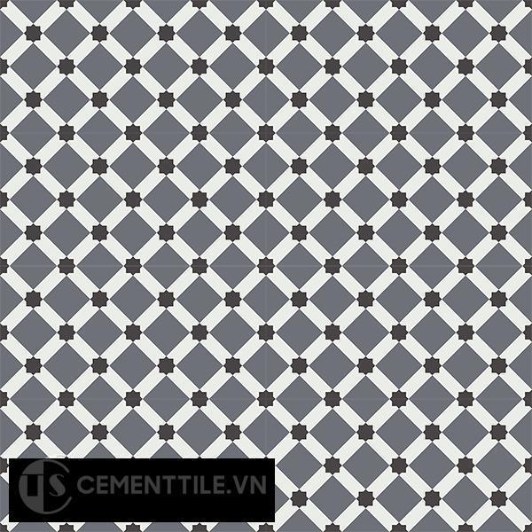 Gạch bông CTS 68.6(4-13-32) - 16 viên - Encaustic cement tile CTS 68.6(4-13-32)-16 tiles