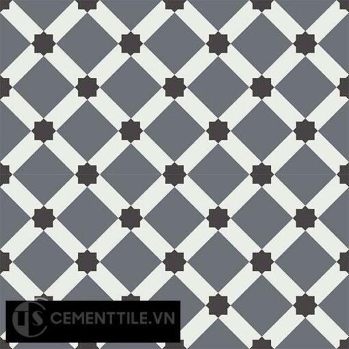Gạch bông CTS 68.6(4-13-32) - 4 viên - Encaustic cement tile CTS 68.6(4-13-32)-4 tiles