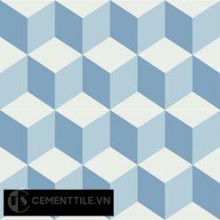 Gạch bông CTS 8.10(2-4-16) - 4 viên - Encaustic cement tile CTS 8.10(2-4-16)-4 tiles