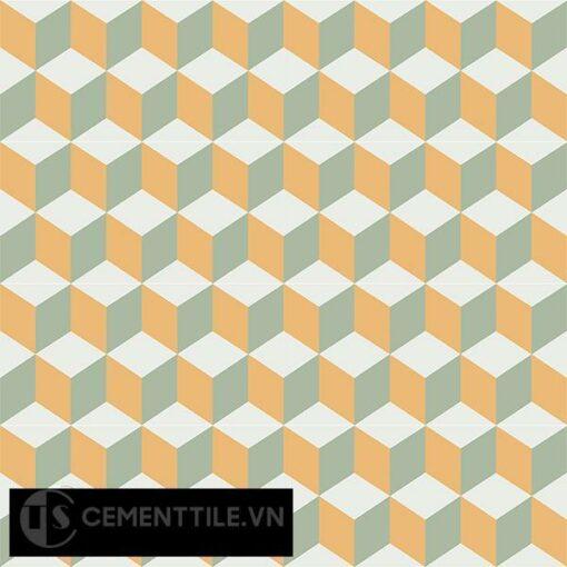 Gạch bông CTS 8.11(4-6-7) - 16 viên - Encaustic cement tile CTS 8.11(4-6-7)-16 tiles