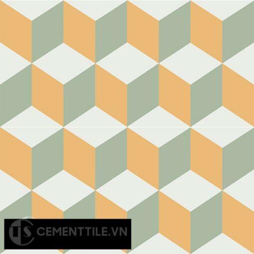 Gạch bông CTS 8.11(4-6-7) - 4 viên - Encaustic cement tile CTS 8.11(4-6-7)-4 tiles