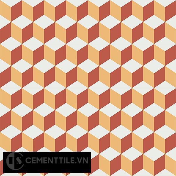 Gạch bông CTS 8.12(4-5-6) - 16 viên - Encaustic cement tile CTS 8.12(4-5-6)-16 tiles