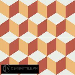 Gạch bông CTS 8.12(4-5-6) - 4 viên - Encaustic cement tile CTS 8.12(4-5-6)-4 tiles