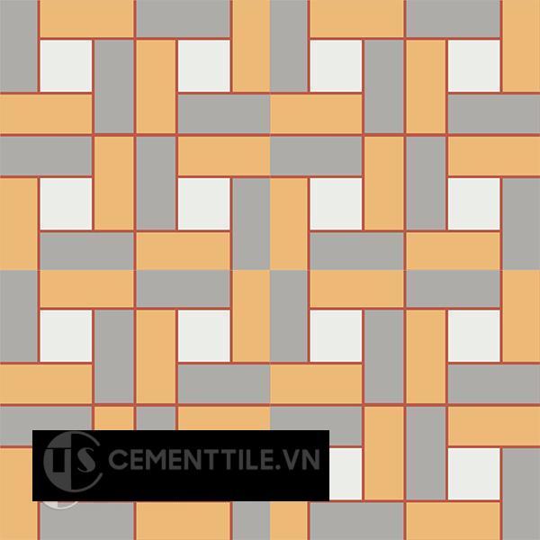 Gạch bông CTS 110.1(4-5-6-9) - 4 viên - Encaustic cement tile CTS 110.1(4-5-6-9)-4 tiles