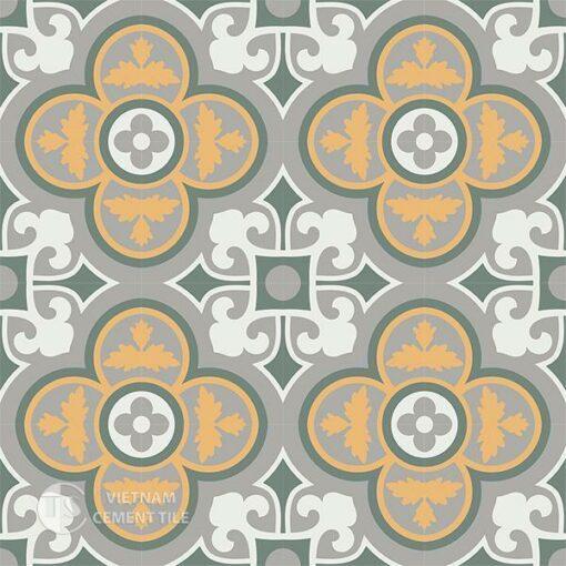 Gạch bông CTS 129.6(4-6-9-24) - 16 viên - Encaustic cement tile CTS 129.6(4-6-9-24)-16 tiles