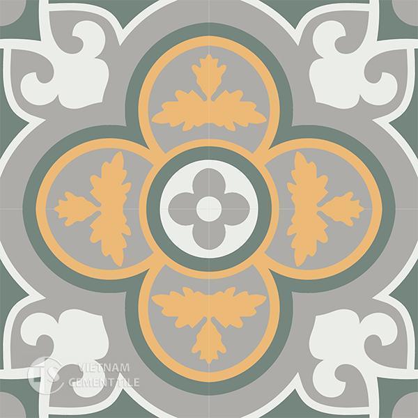 Gạch bông CTS 129.6(4-6-9-24) - 4 viên - Encaustic cement tile CTS 129.6(4-6-9-24)-4 tiles