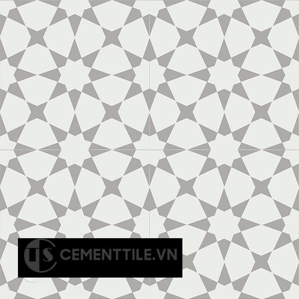 Gạch bông CTS 141.4(4-9) - 4 viên  - Encaustic cement tile CTS 141.4(4-9)-4 tiles