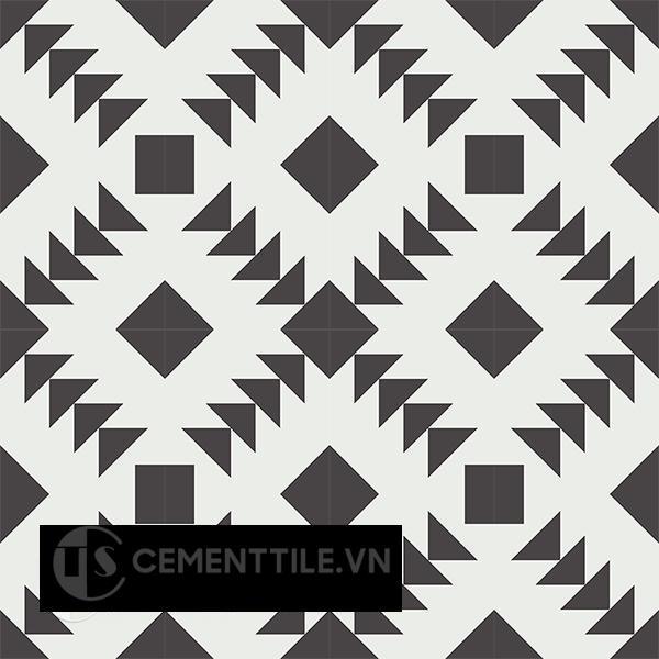 Gạch bông CTS 157.1(4-13) - 16 viên - Encaustic cement tile CTS 157.1(4-13)-16 tiles