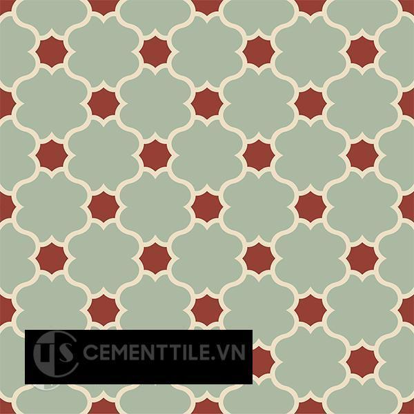 Gạch bông CTS 168.3(7-59-62) - 4 viên - Encaustic cement tile CTS 168.3(7-59-62)-4 tiles