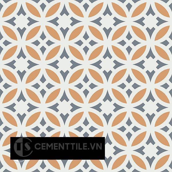 Gạch bông CTS 186.1(4-33-34) - 16 viên  - Encaustic cement tile CTS 186.1(4-33-34)-16 tiles
