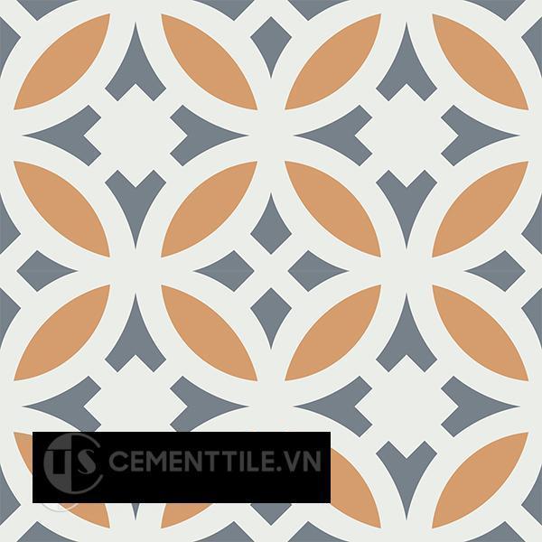 Gạch bông CTS 186.1(4-33-34) - 4 viên  - Encaustic cement tile CTS 186.1(4-33-34)-4 tiles