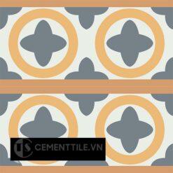 Gạch bông CTS 187.1(4-6-33-34) - 4 viên - Encaustic cement tile CTS 187.1(4-6-33-34)-4 tiles