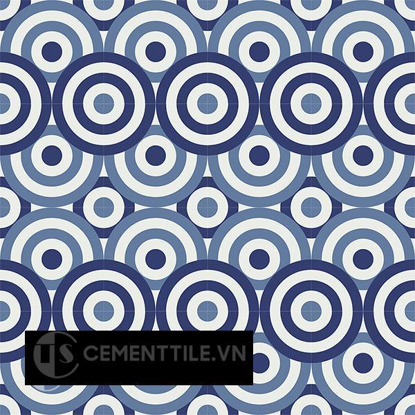 Gạch bông CTS 190.1(01-02-4) - 16 viên - Encaustic cement tile CTS 190.1(01-02-4)-16 tiles
