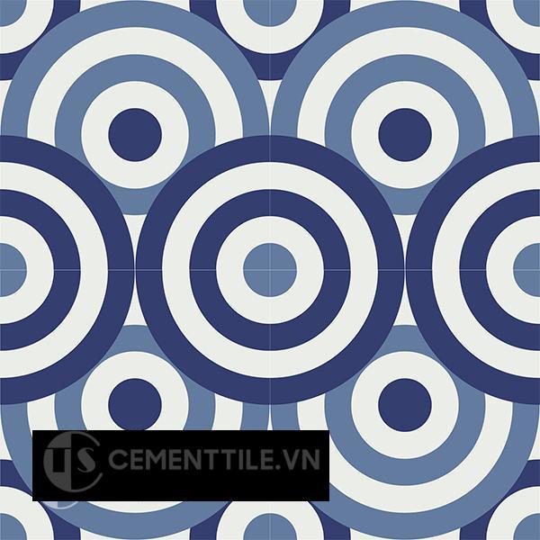 Gạch bông CTS 190.1(01-02-4) - 4 viên - Encaustic cement tile CTS 190.1(01-02-4)-4 tiles