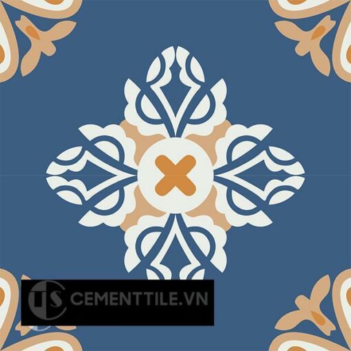 Gạch bông CTS 191.1(03-04-05-4) - 4 viên - Encaustic cement tile CTS 191.1(03-04-05-4)-4 tiles