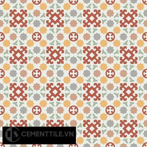 Gạch bông CTS 33.1(4-5-6-7-9-11) - 16 viên - Encaustic cement tile CTS 33.1(4-5-6-7-9-11)-16 tiles