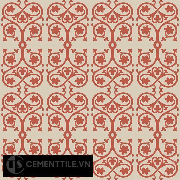 Gạch bông CTS 42.1(5-12) - 16 viên - Encaustic cement tile CTS 42.1(5-12)-16 tiles