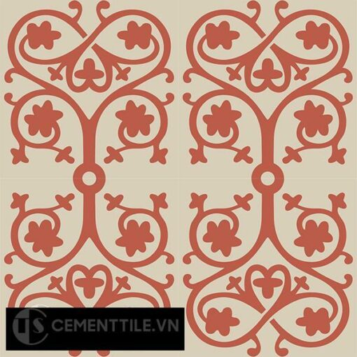 Gạch bông CTS 42.1(5-12) - 4 viên - Encaustic cement tile CTS 42.1(5-12)-4 tiles