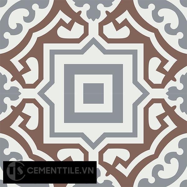 Gạch bông CTS 64.1(4-14-24) - 4 viên - Encaustic cement tile CTS 64.1(4-14-24)-4 tiles