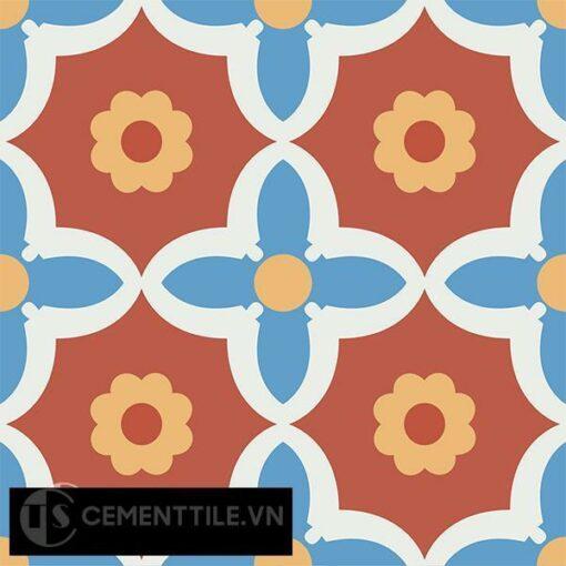 Gạch bông CTS 78.2(4-5-6-8) - 4 viên - Encaustic cement tile CTS 78.2(4-5-6-8)-4 tiles