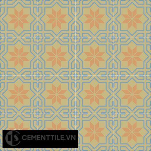 Gạch bông CTS 88.1(16-34-52) - 16 viên - Encaustic cement tile CTS 88.1(16-34-52)-16 tiles