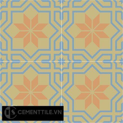 Gạch bông CTS 88.1(16-34-52) - 4 viên - Encaustic cement tile CTS 88.1(16-34-52)-4 tiles