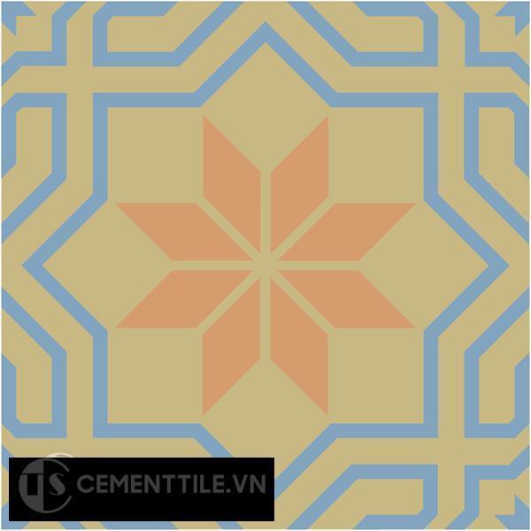 Gạch bông CTS 88.1(16-34-52) - Encaustic cement tile CTS 88.1(16-34-52)