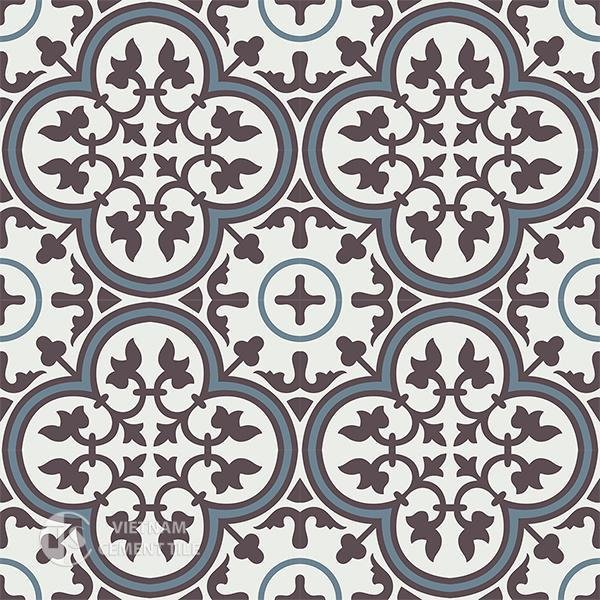 Gạch bông CTS 2.25 - 16 viên - Encaustic cement tile CTS 2.25-16 tiles