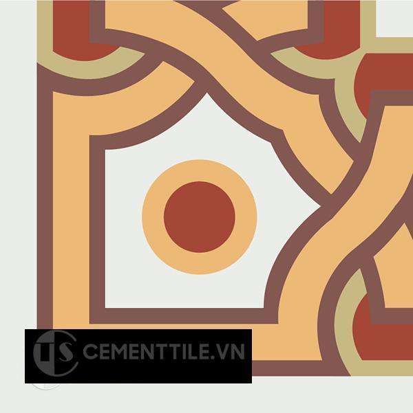 Gạch bông CTS C110.4(4-6-30-52-60) - Encaustic cement tile CTS C110.4(4-6-30-52-60)