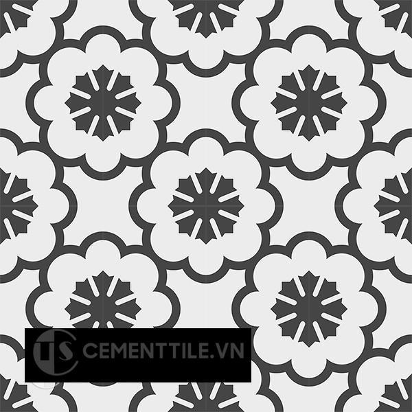 Gạch bông CTS 193.1(4-13) - 16 viên - Encaustic cement tile CTS 193.1(4-13) - 16 tiles