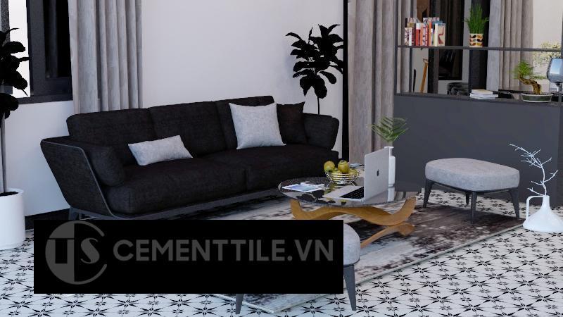 Gạch bông cts 194.1 trang trí phòng khách