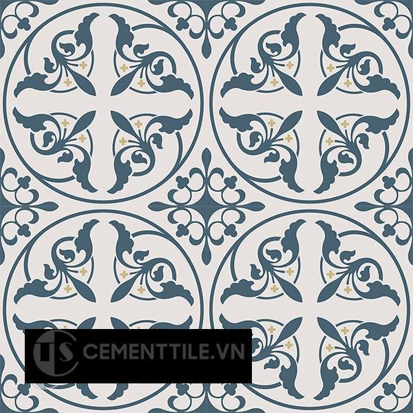 Gạch bông CTS 195.1(1-52-54) - 16 viên - Encaustic cement tile CTS 195.1(1-52-54) - 16 tiles