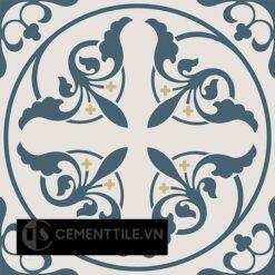 Gạch bông CTS 195.1(1-52-54) - 4 viên - Encaustic cement tile CTS 195.1(1-52-54) - 4 tiles