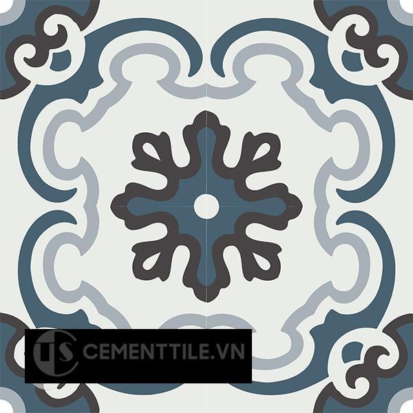 Gạch bông CTS 5.1(1-2-13-50) - 4 viên - Encaustic cement tile CTS 5.1(1-2-13-50) - 4 tiles