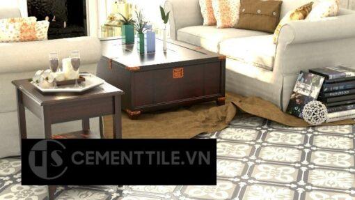 Gạch bông cts 72.2 trang trí phòng khách