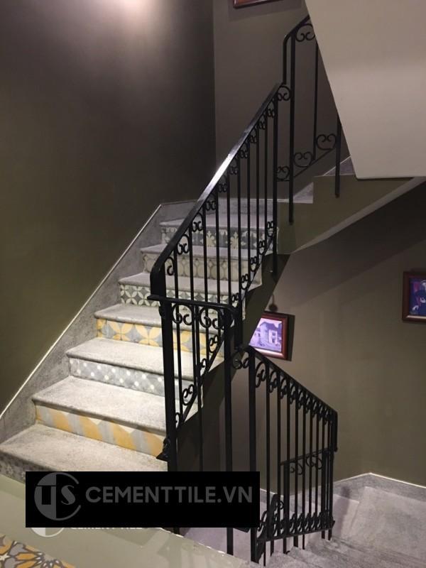 gạch bông trang trí cầu thang