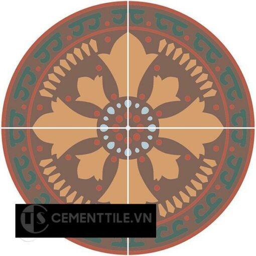 ban gach bong CTS-01 - Cement tile table CTS-01
