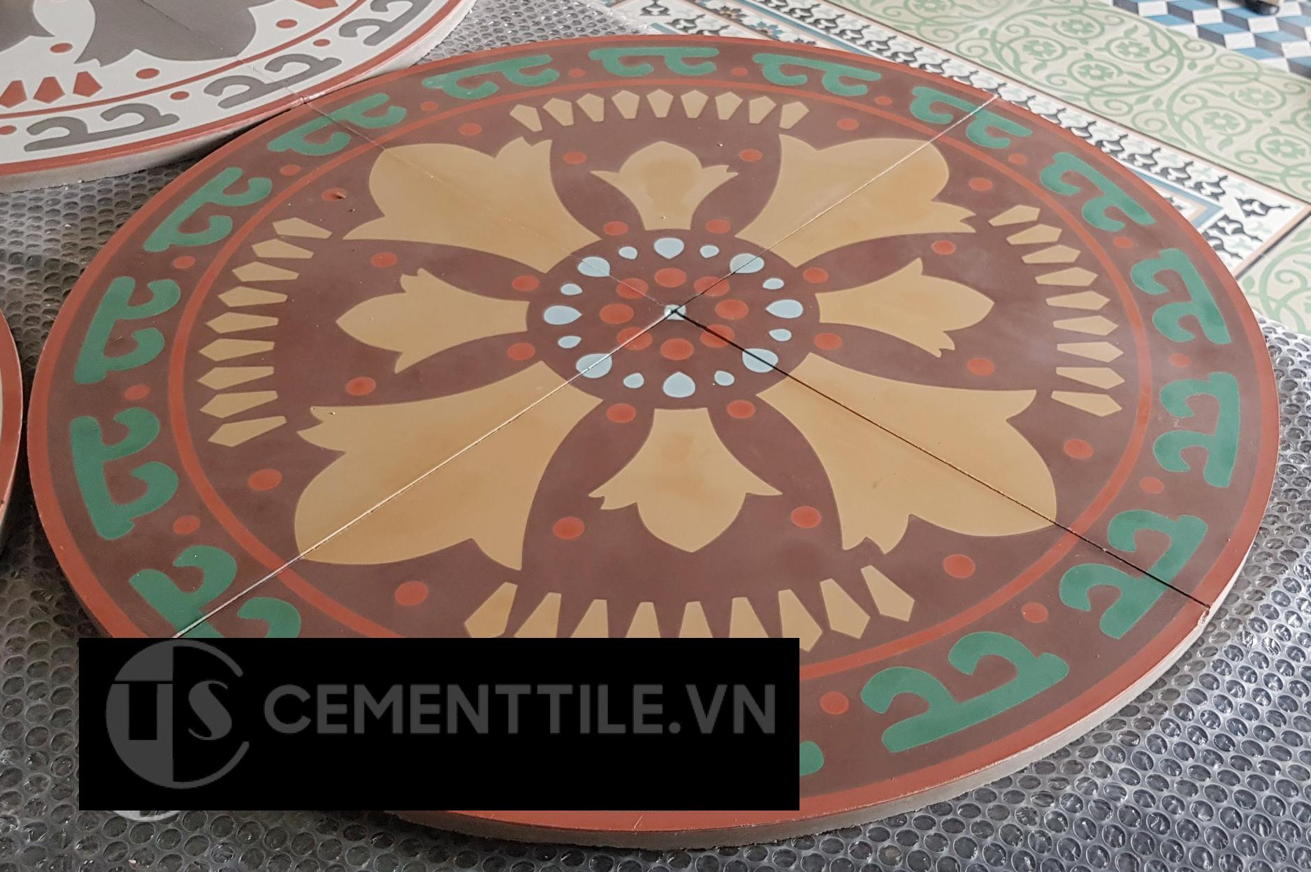 Bàn gạch bông CTS-02 - Cement tile table CTS-02